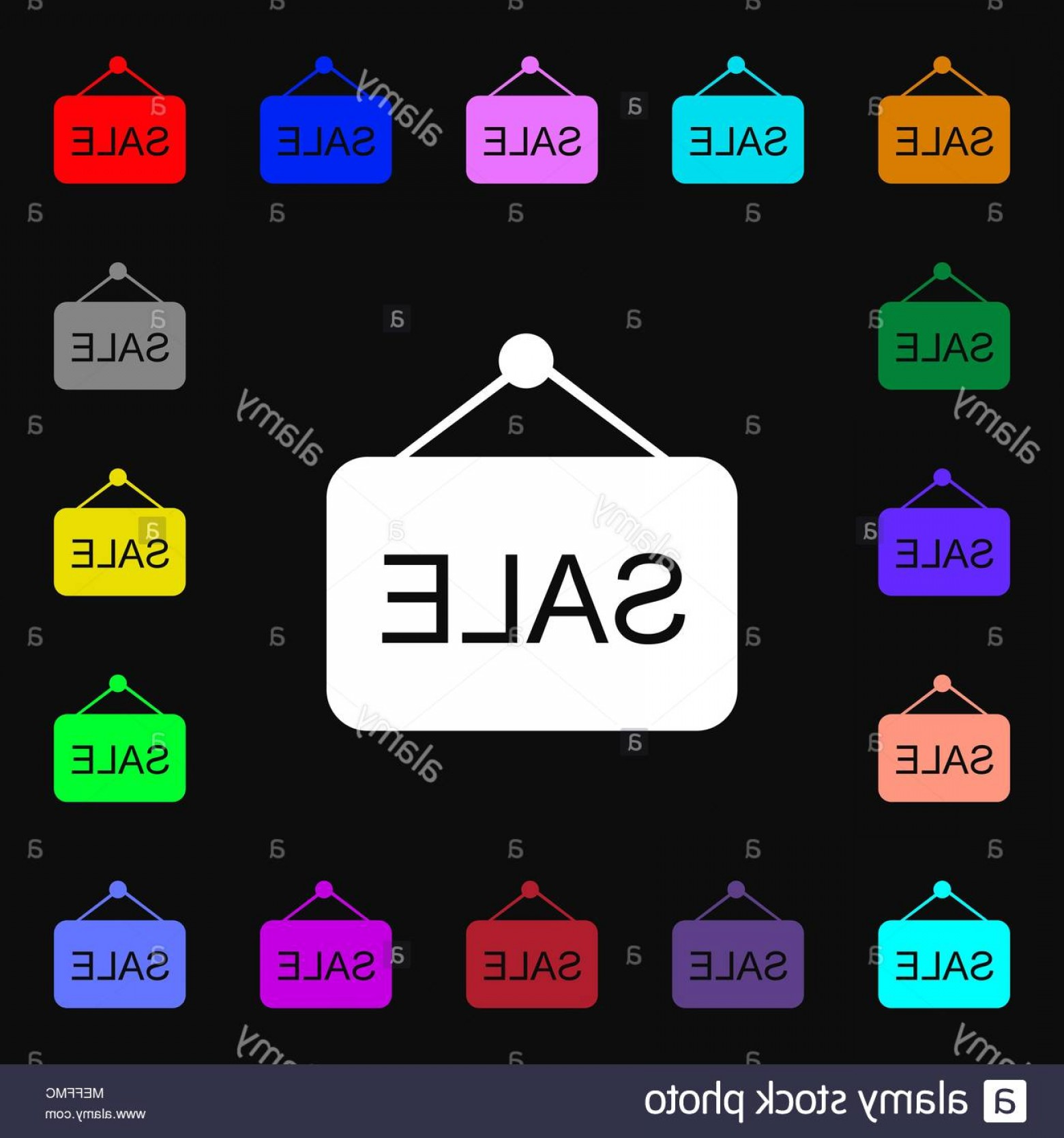 MeeGo Logo Vector: Sale Icon Sign Lots Of Colorful Symbols For Your Design Vector Illustration Image