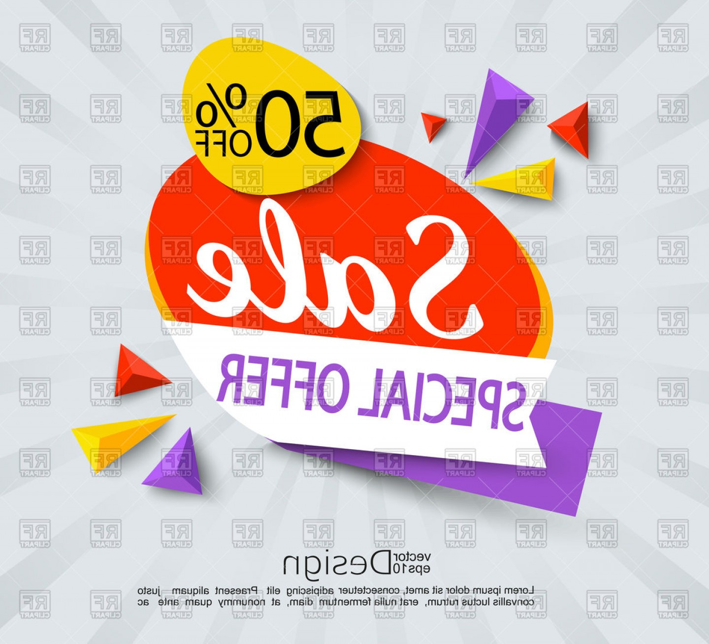 Vector Banner And Sell: Sale Special Offer Banner Vector Clipart