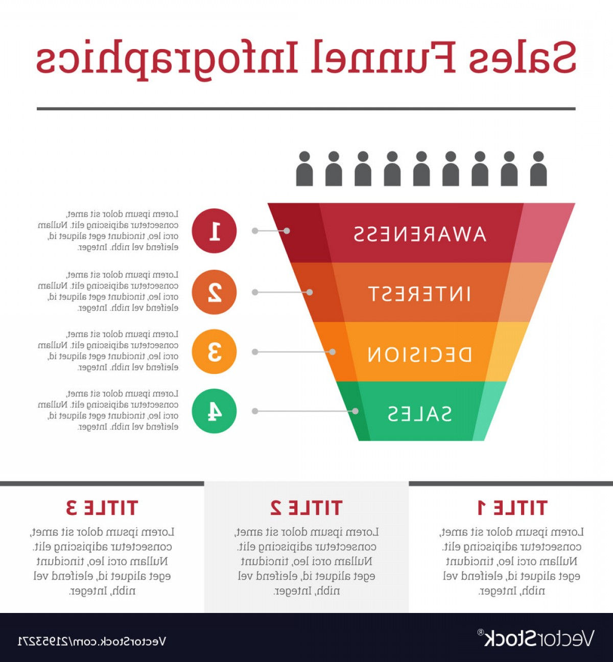 Vector Funnel Infographic: Sales Funnel Infographics For Business Vector