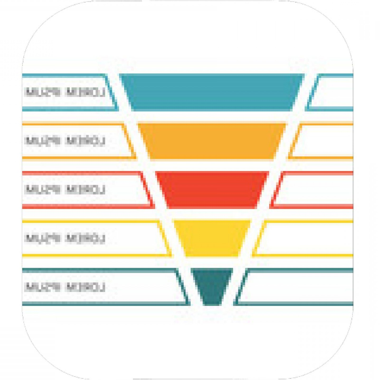 Vector Funnel Infographic: Sales Funnel With Stages Of The Sales Process Aida Marketing Concept