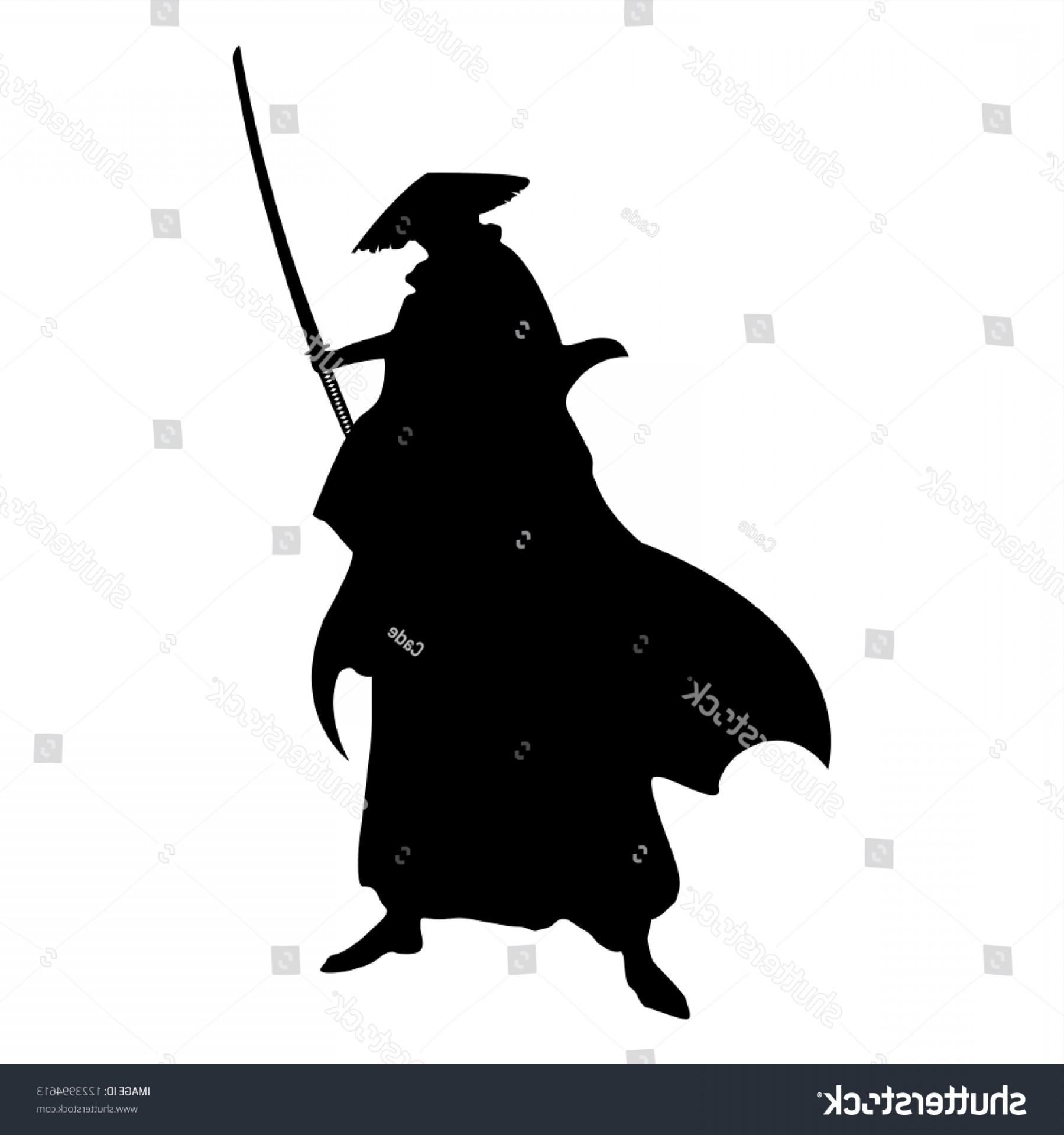 Windows Phone Vector Samurai: Samurai Silhouette Warrior Sword Ninja Japanese