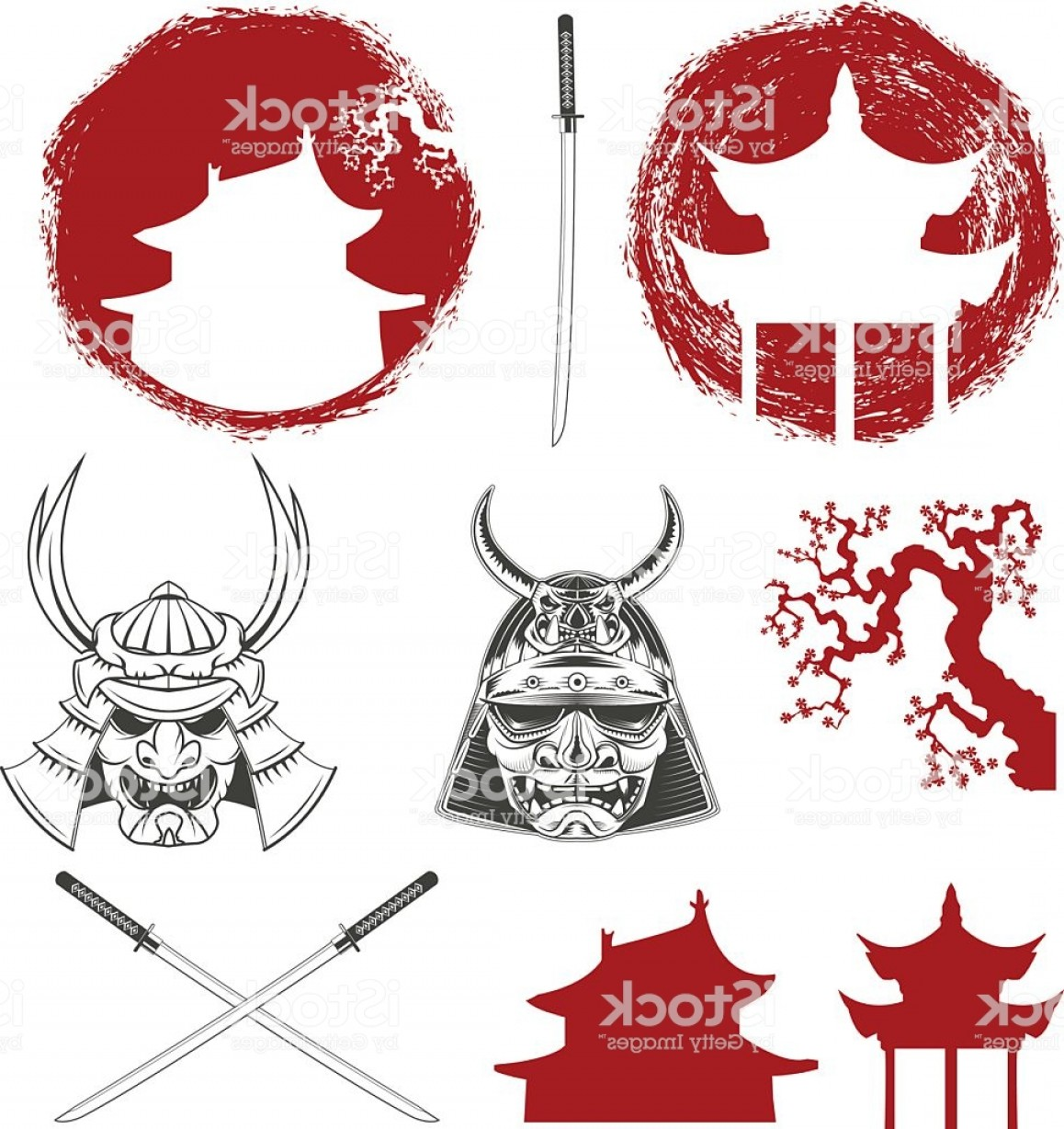 Windows Phone Vector Samurai: Samurai Vector Design Elements Set Gm