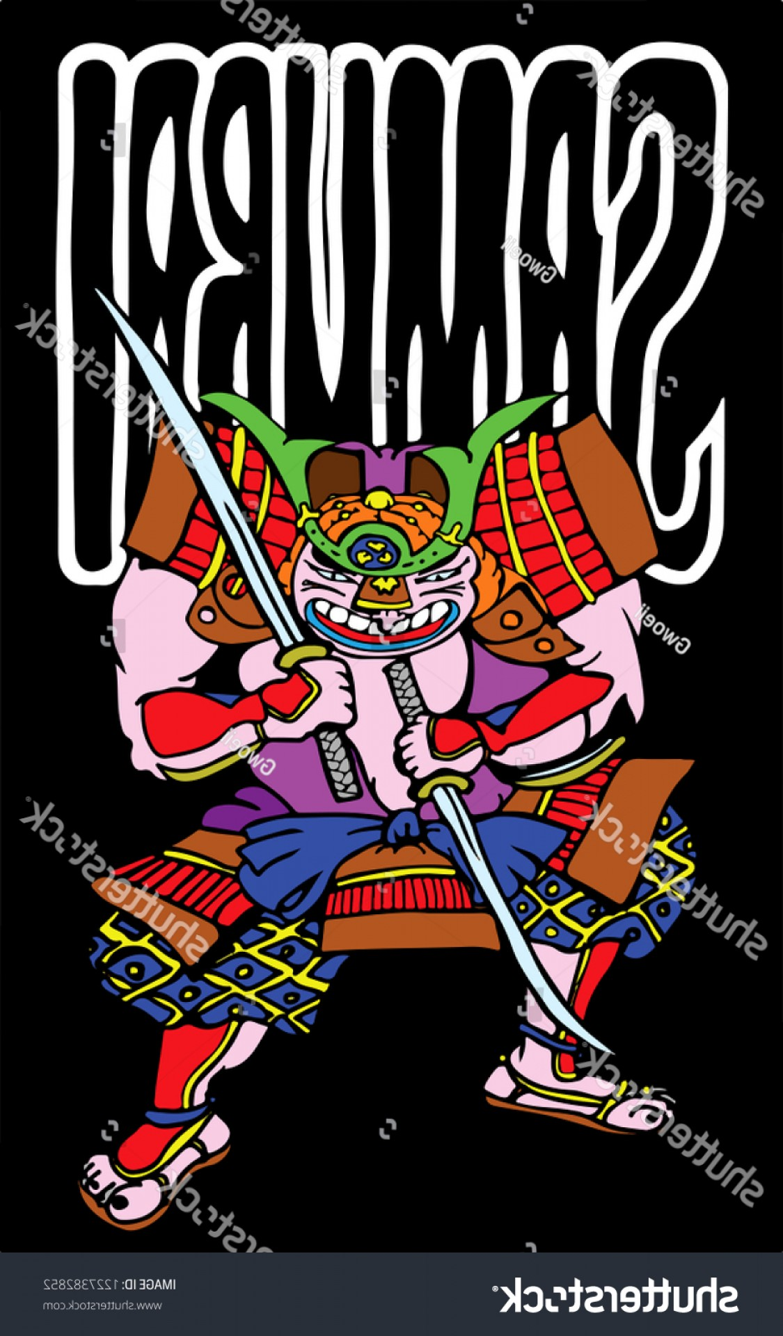 Windows Phone Vector Samurai: Samurai Warrior Hand Drawn Vector Illustration