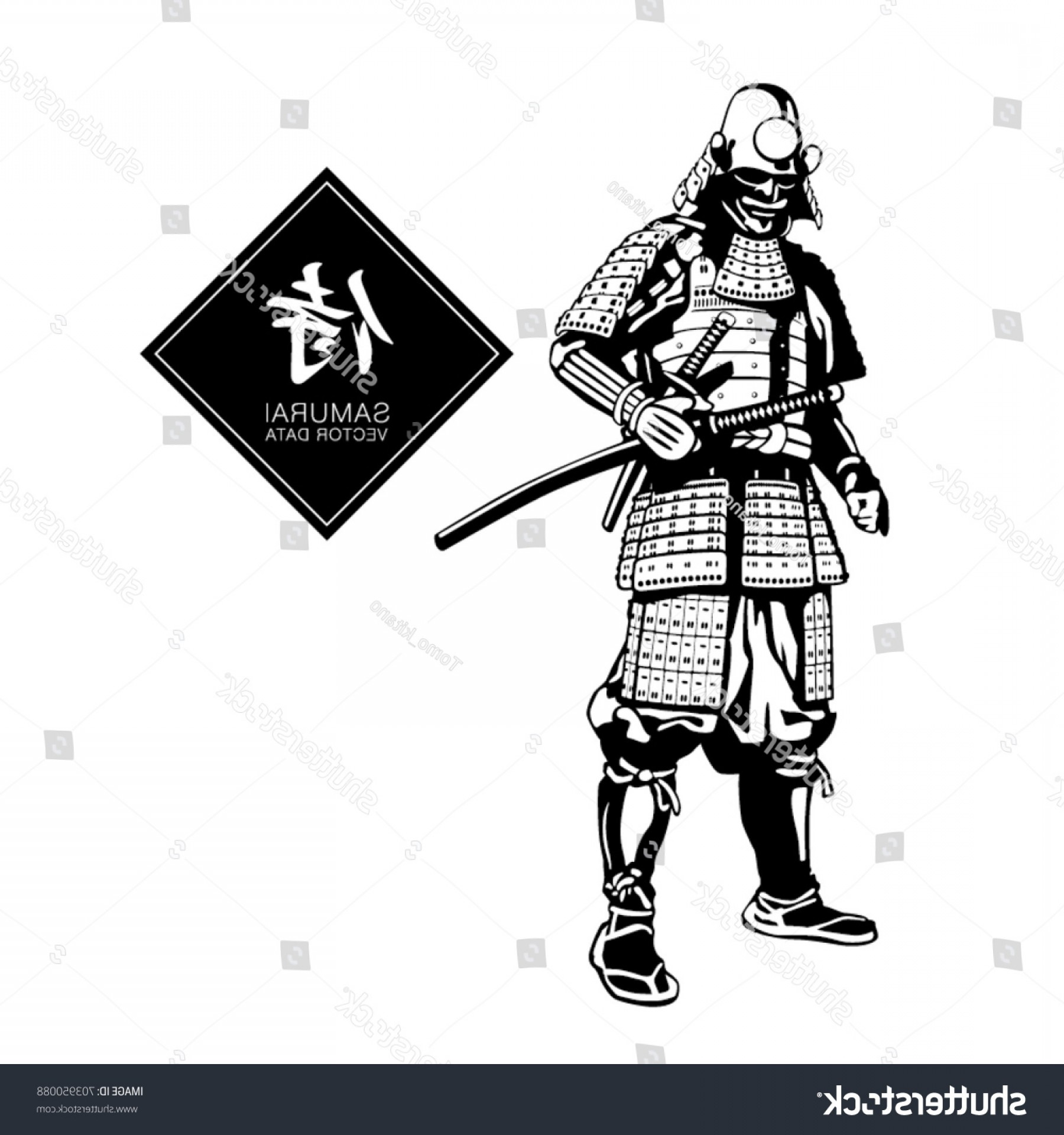 Samurai Warrior Vector: Samurai Warrior Japanese Vector Graphics