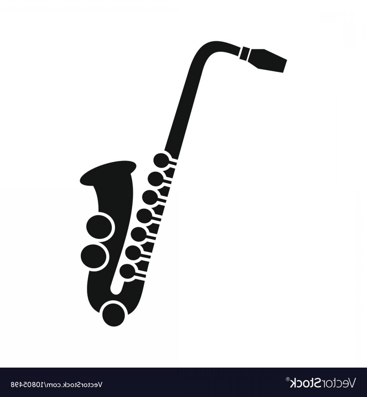 Saxophone Vector: Saxophone Icon In Simple Style Vector
