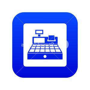 Register Icon Vector: Sale Cash Register Icon Digital Blue For Any Design Isolated On White Vector Illustration Hbxxwfvjqpx