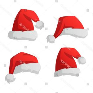 Santa Hat Vector Logo: Love Heart With Santa Hat Vector