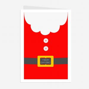 Vector Santa Belt: Red Santa Claus Suit Leather Belt
