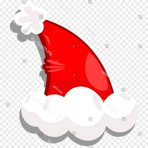 Santa Hat Vector Logo: Vector Red Santa Hat Isolated On White Transparent Background New Year Hat With Gm