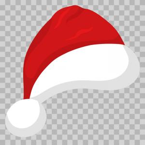 Santa Hat Vector Logo: Santa Hat Isolated On Transparent Background