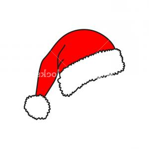 Christmas Hat Vector Clip Art: Santa Hat Vector Icon Christmas Hat Red Cap Vector Illustration Isolated On White Background Smhzxckxjoygpxjr