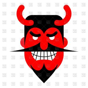 Smile Vector Art: Satan Laughter Devil With Terrible Smile Vector Clipart