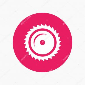Round Saw Blade Vector: Saw Blade Icon In Flat Style Circular Machine Vector Illustration On Black Round Gm