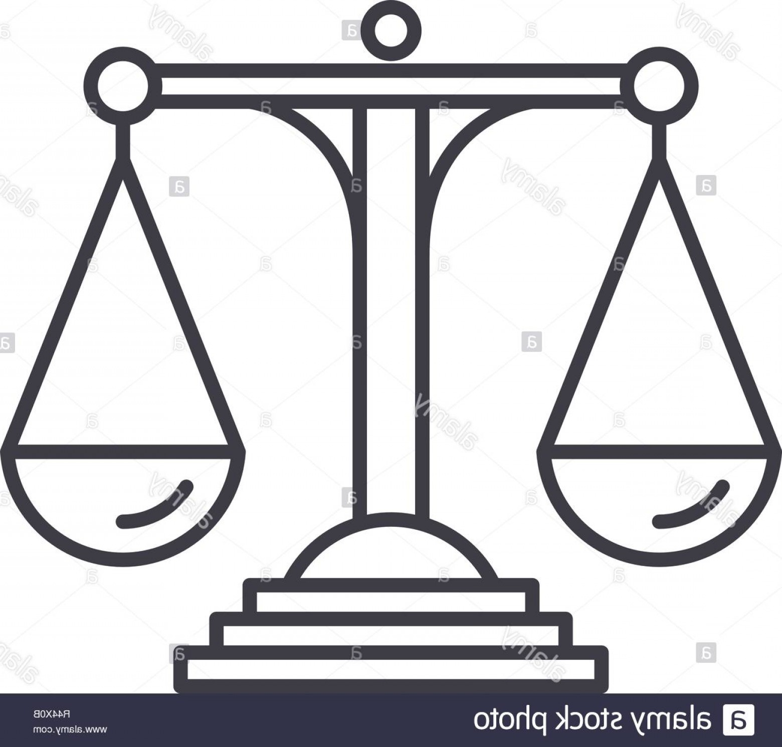 Scales Of Justice Vector: Scales Of Justice Line Icon Concept Scales Of Justice Vector Linear Illustration Symbol Sign Image