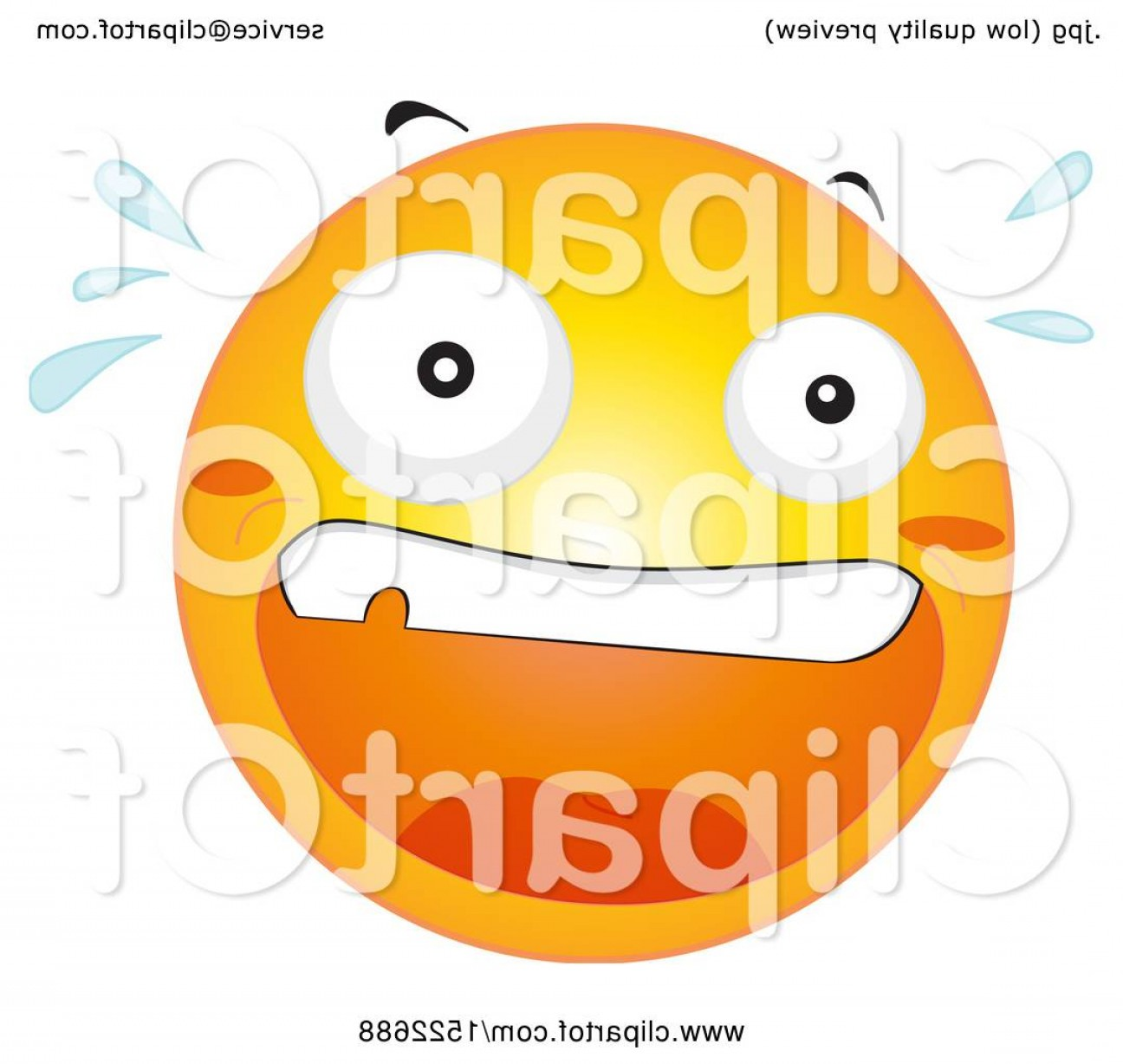 Emoji Fist Bump Vector Graphic: Scared Emoticon Yellow Emoji Smiley