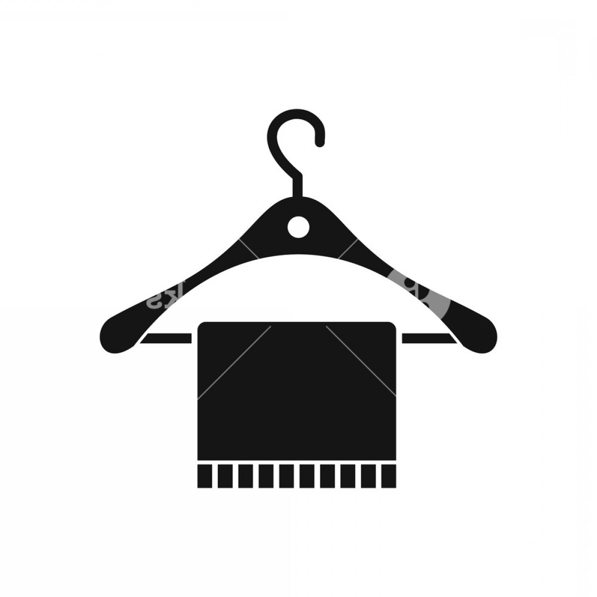 Shirt Hanger Icon Vector: Scarf On Coat Hanger Icon In Simple Style On A White Background Vector Illustration Rtm Mjhi
