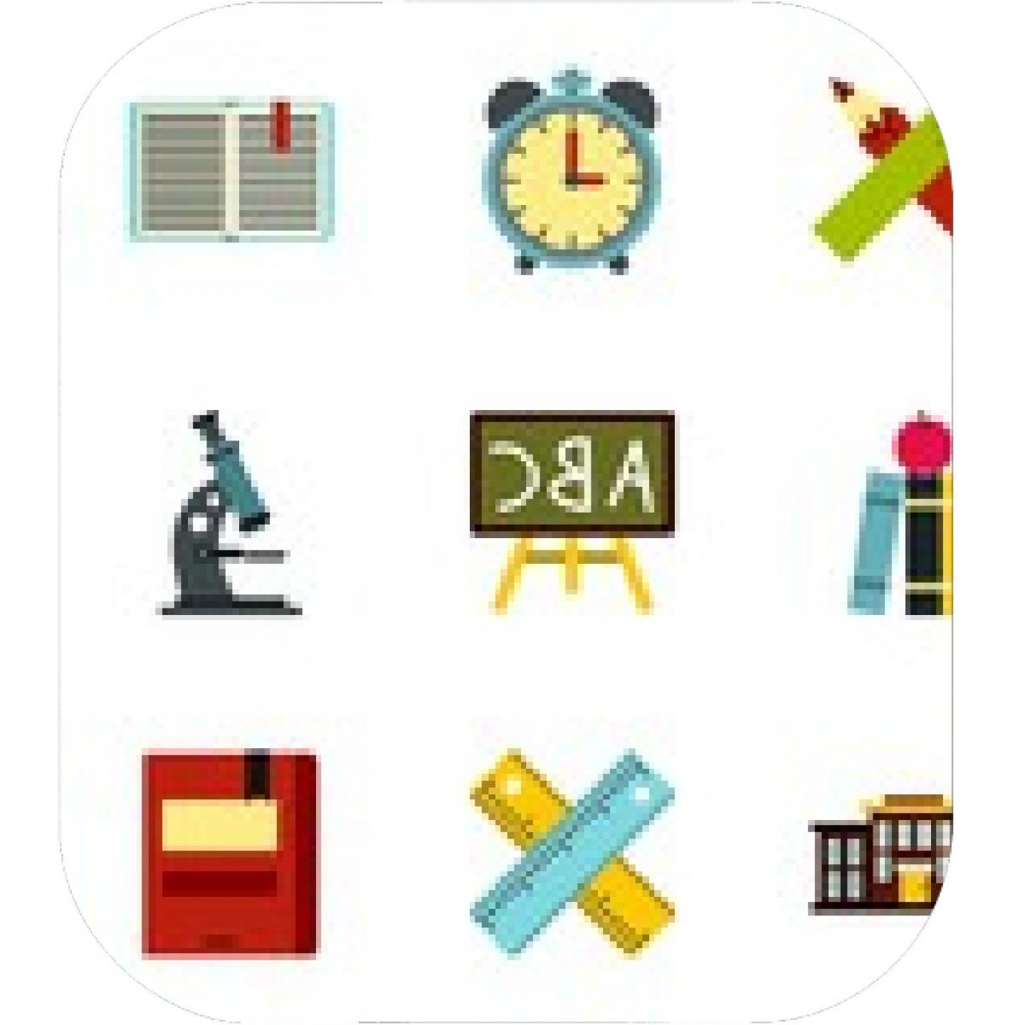 Vector Clip Art Red Schoolhouse: Schoolhouse Icons Set Flat Illustration Of Schoolhouse Vector Icons For Web
