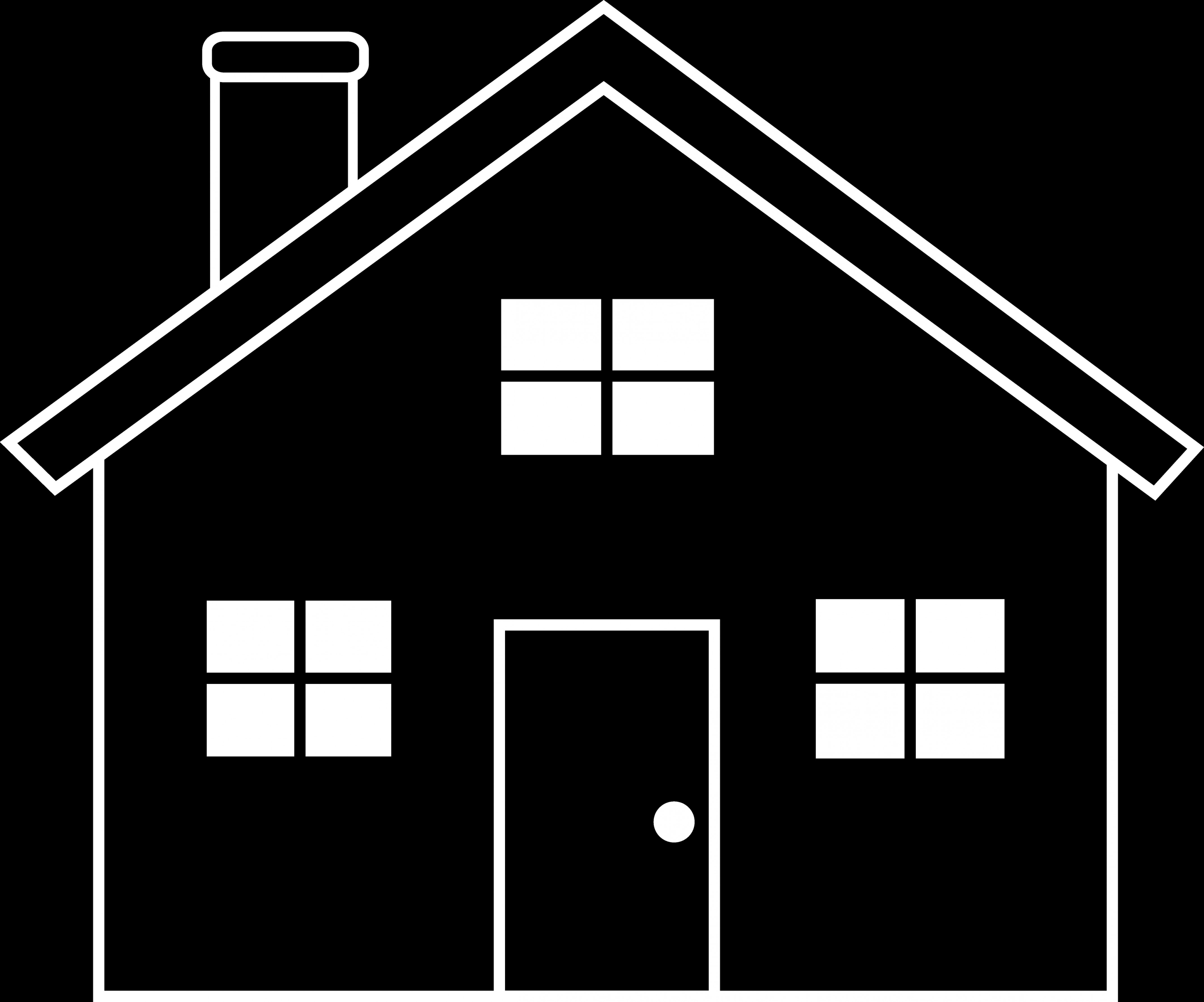 Vector Clip Art Red Schoolhouse: Schoolhouse Vector House Black And White