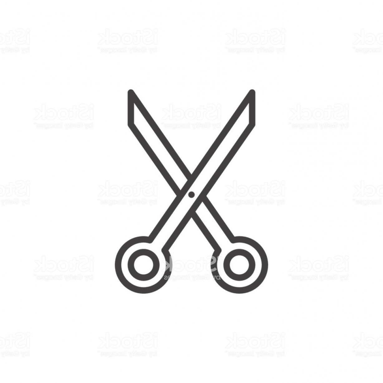 Cut Symbol Vector: Scissors Cut Line Icon Outline Vector Sign Linear Style Pictogram Isolated On White Gm