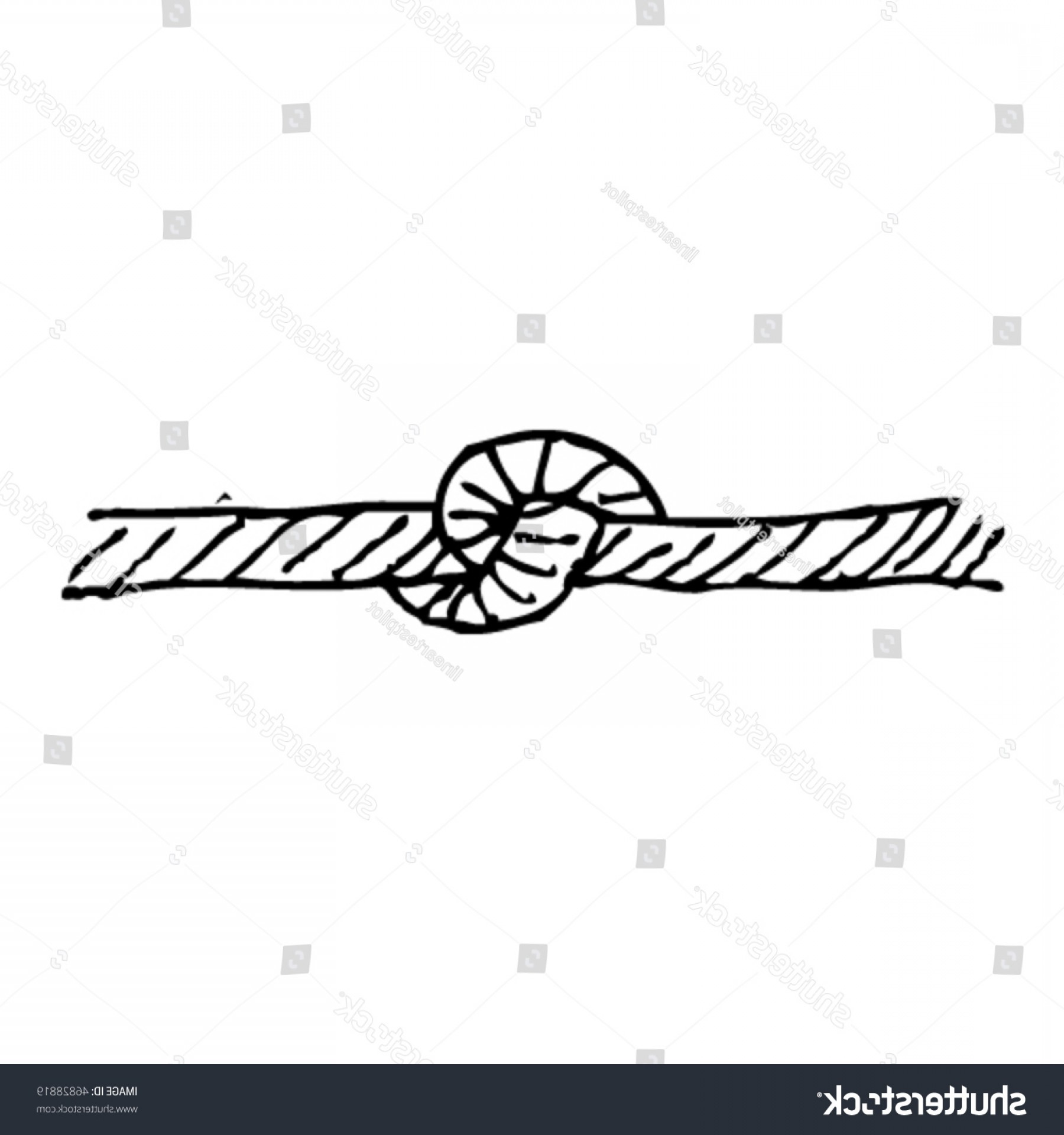 Scratch Y Drawing Vector: Scratchy Ink Drawing Knot Rope