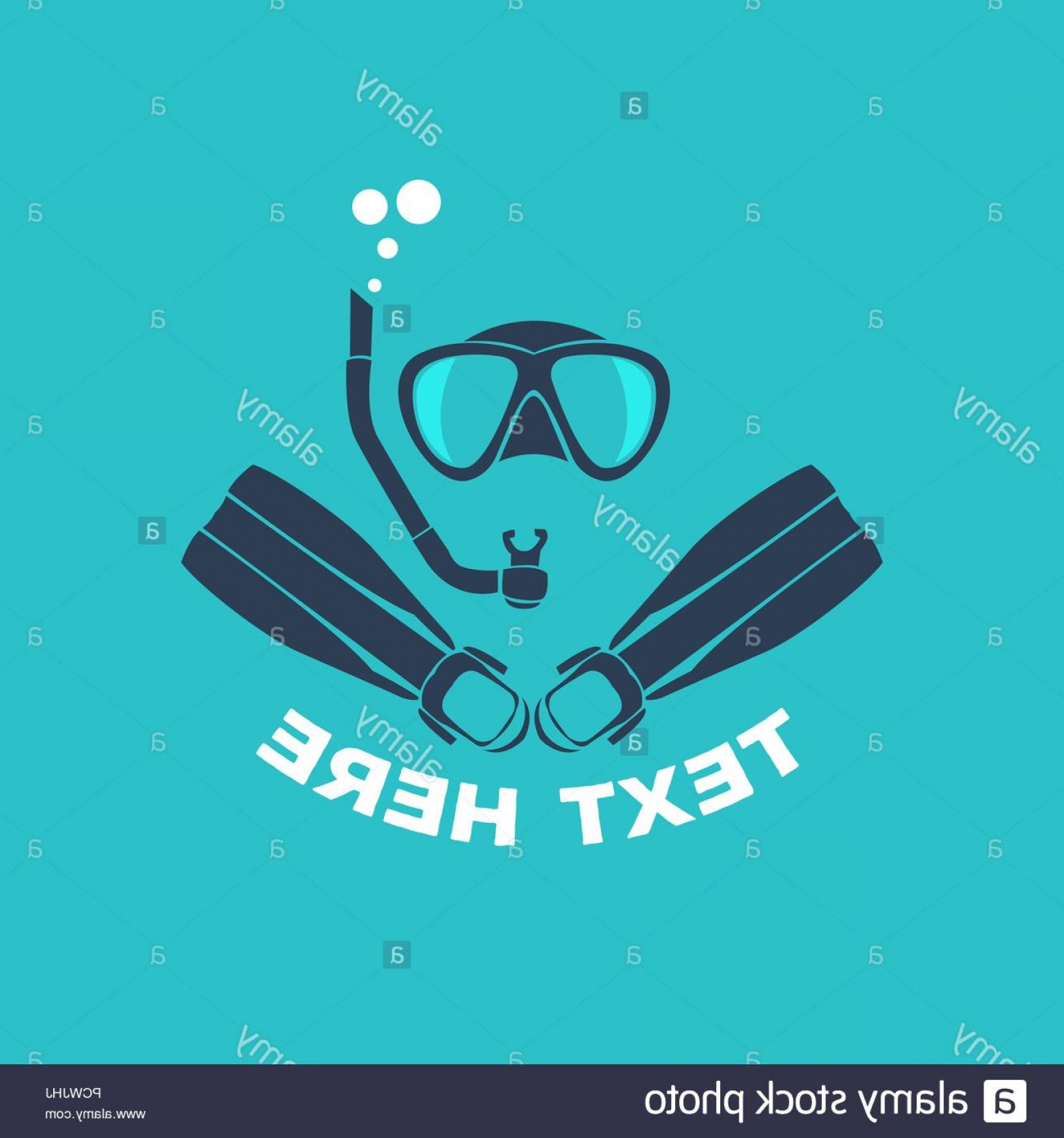 Dive Mask E Vectors: Scuba Diving Logo Vector Illustration Image