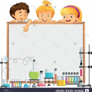 Science Clip Art Vector: Science Class And Whiteboard Illustration Image