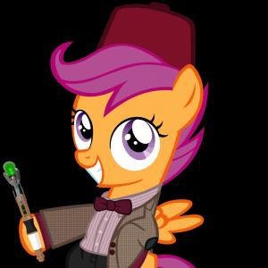 MLP Dr. Whooves Vector: Scootaloo As The Th Doctor With Fez