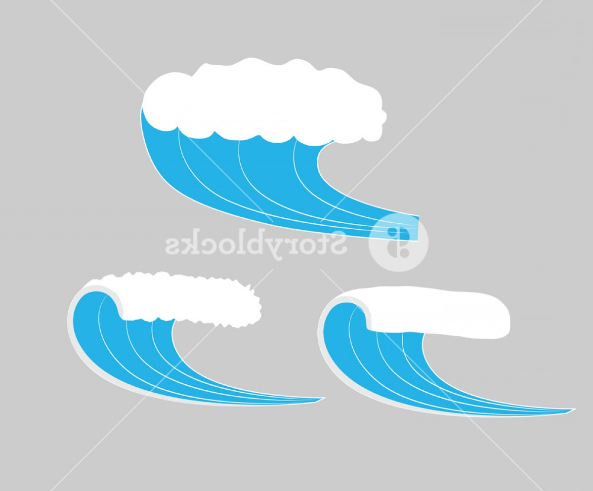 Awesome Ocean Wave Vector: Sea Waves Vector Illustration Bngycng Jupewf