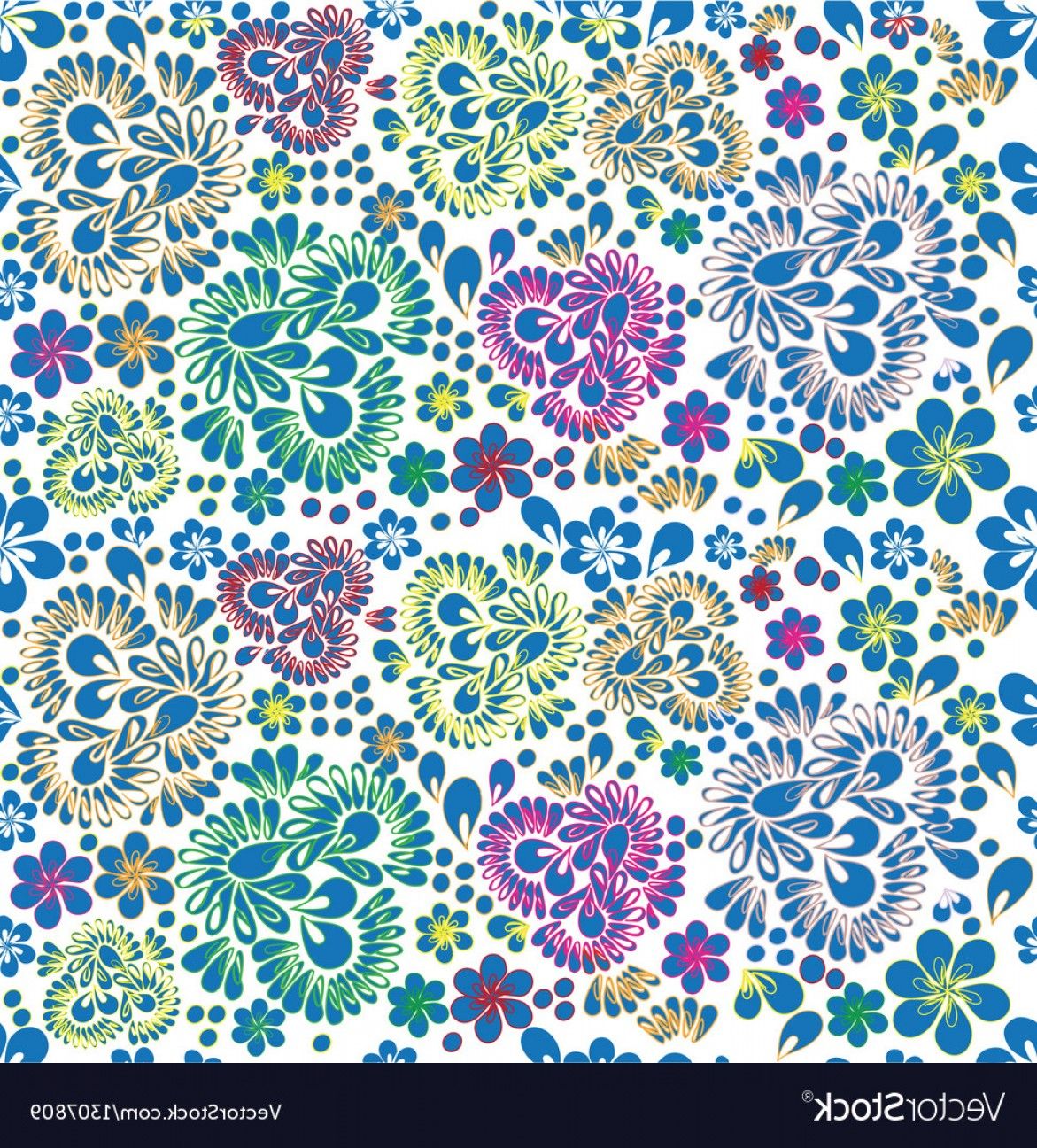 Russian Patterns Vector: Seamless Background Russian Pattern Vector