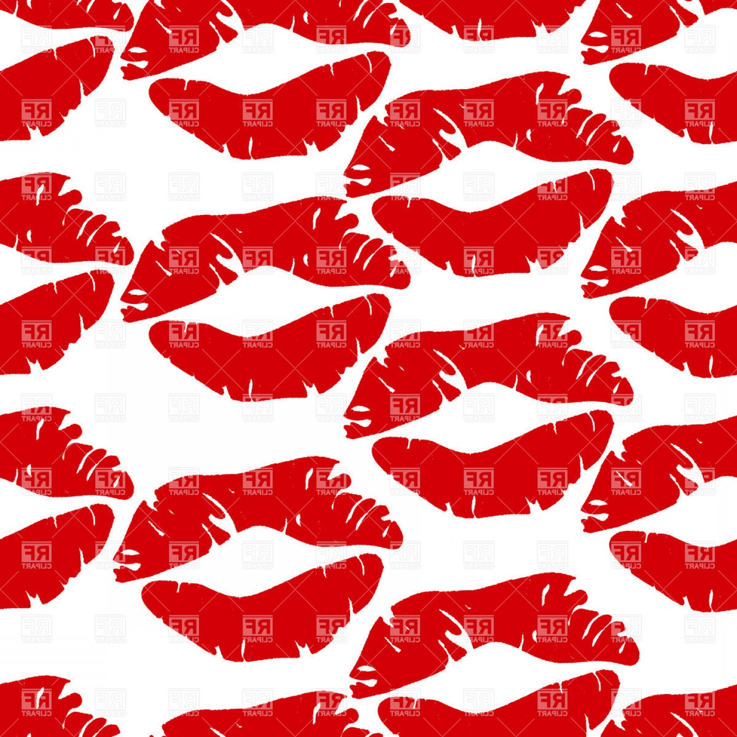 Kiss Clip Art Vector: Seamless Background With Kisses Vector Clipart