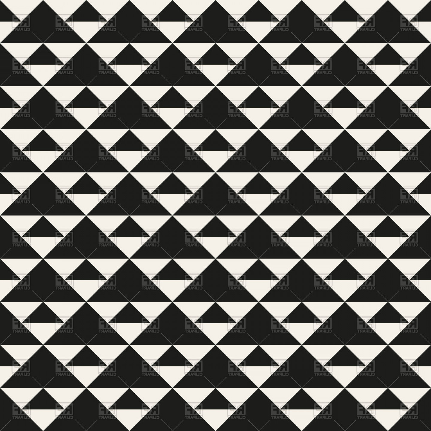 Vector Art Geometric Designs: Seamless Black And White Geometric Pattern With Triangles Vector Clipart