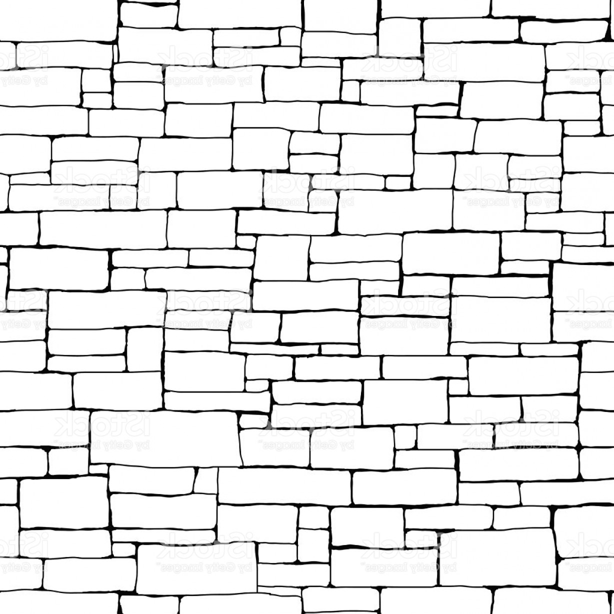 Wall Background Vector: Seamless Brick Wall Background Gm