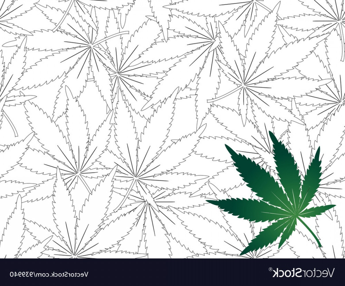 Leaf Background Vector: Seamless Cannabis Leaf Background Vector