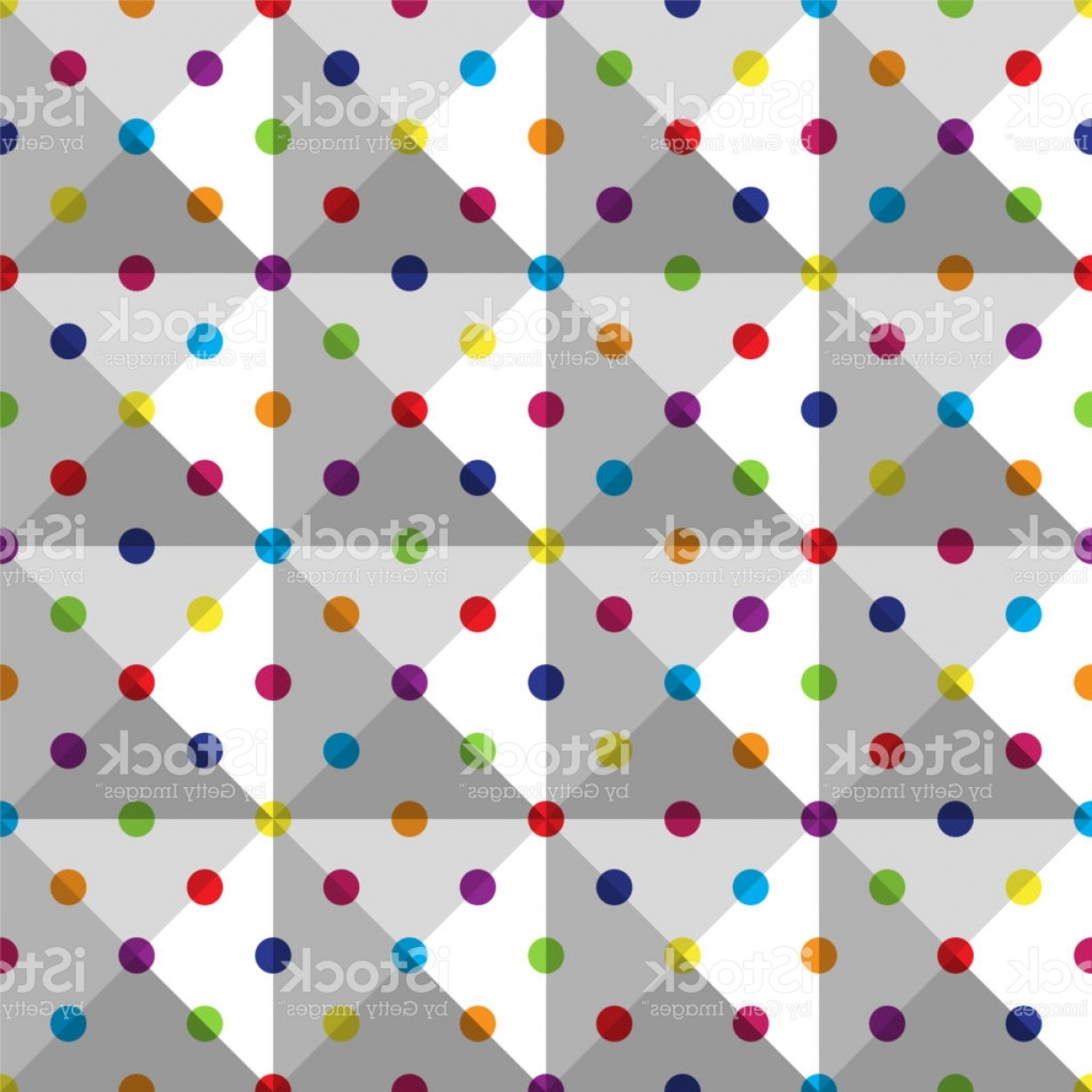 Polka Dot Background Vector Y: Seamless Colorful Polka Dot Pattern On White Background Gm