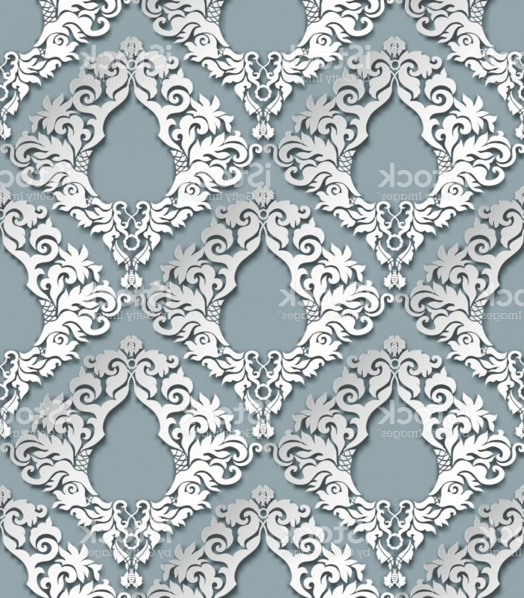 Damask Background Vector Art: Seamless D Damask Pattern Gm