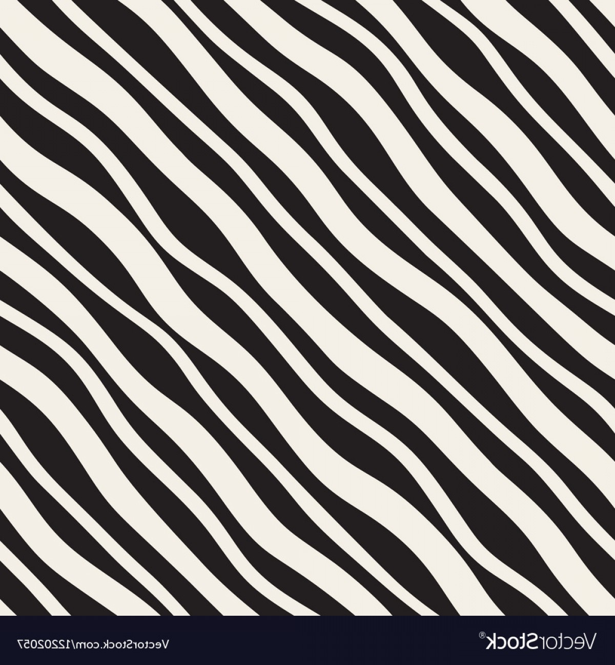 Wavy Line Illustrator Vector: Seamless Diagonal Wavy Lines Pattern Vector