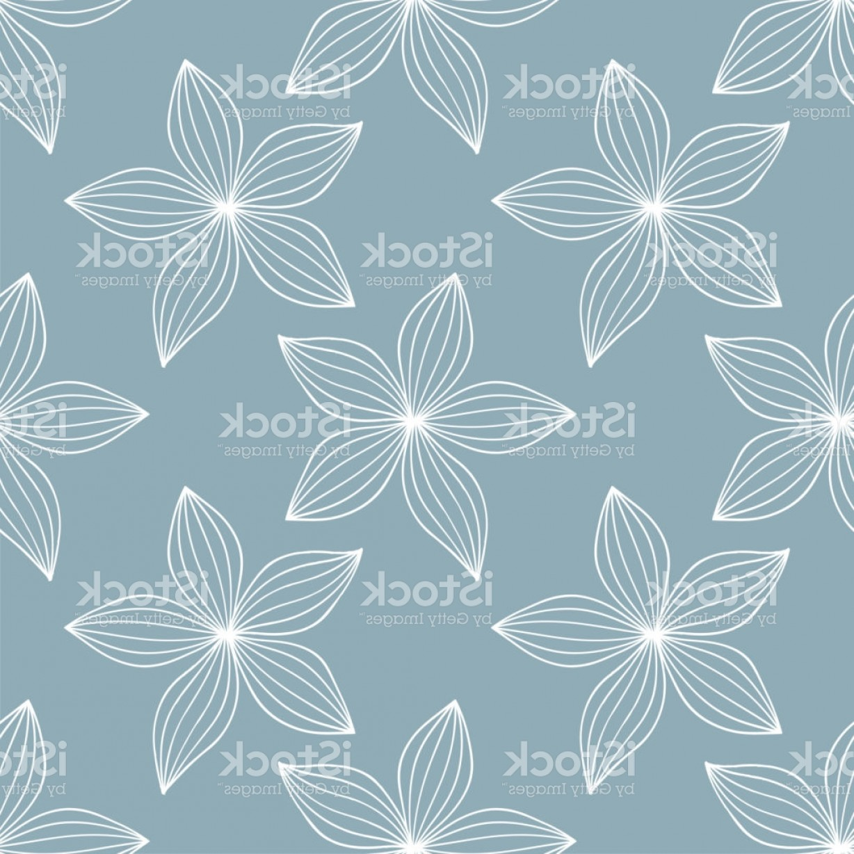 Rapport Vector: Seamless Floral Blue Pattern Flowers Background Textile Rapport Gm