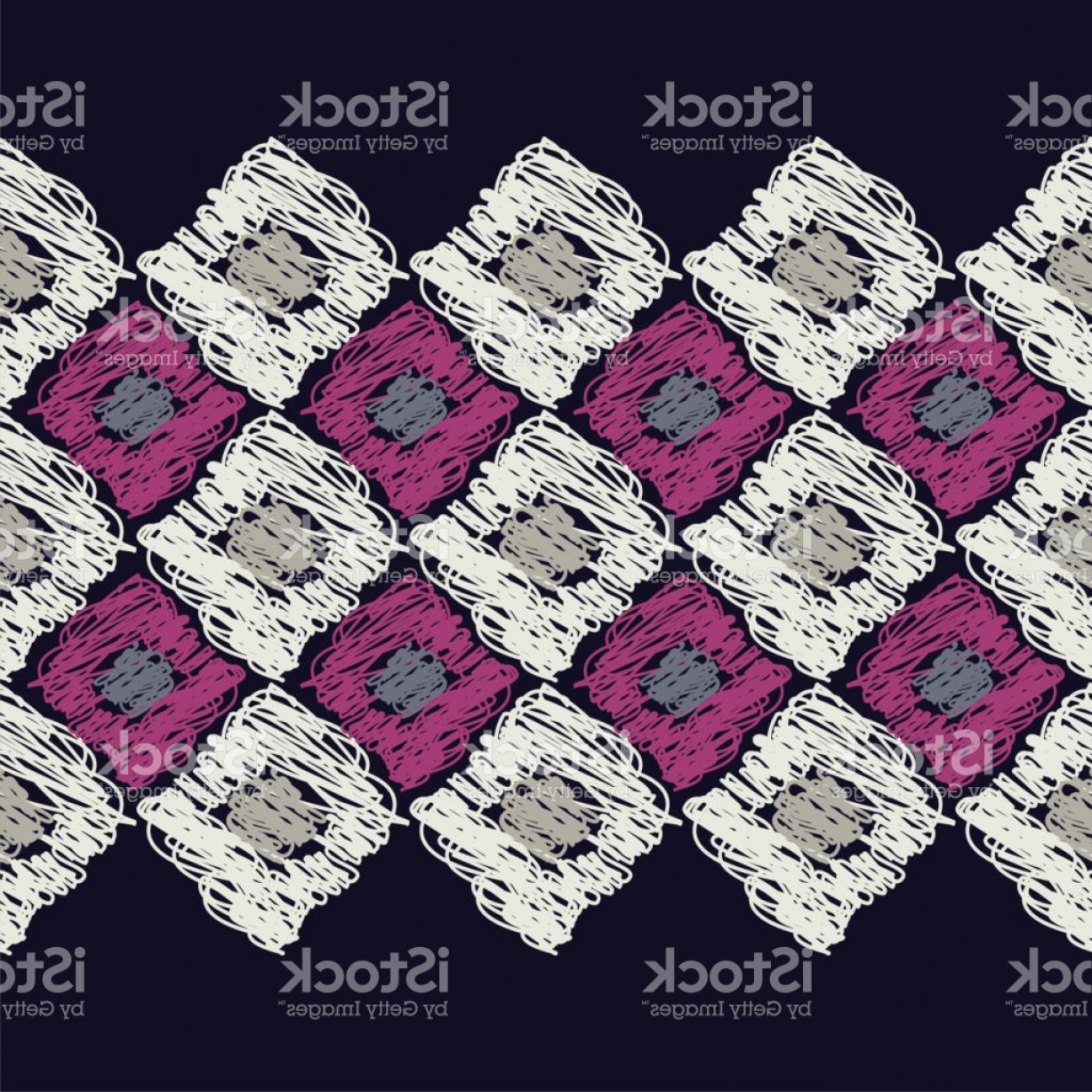 Rapport Vector: Seamless Geometric Pattern Brushwork Scribble Texture Textile Rapport Gm