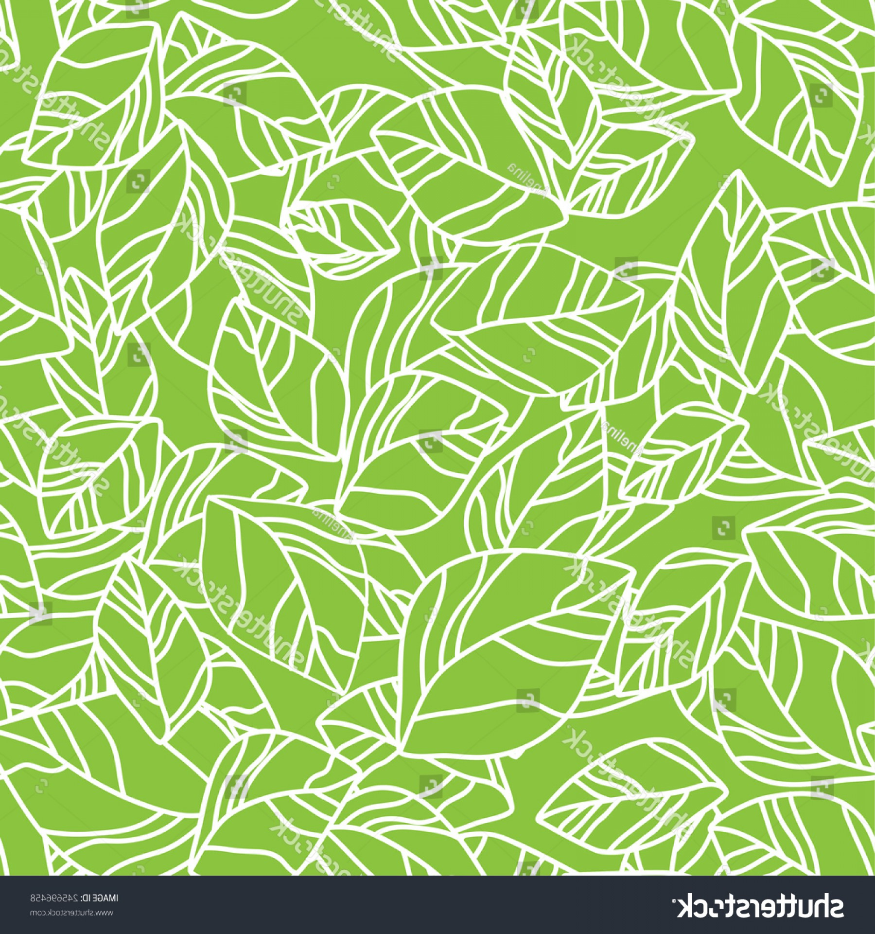 Leaf Background Vector: Seamless Leaf Background Vector Illustration