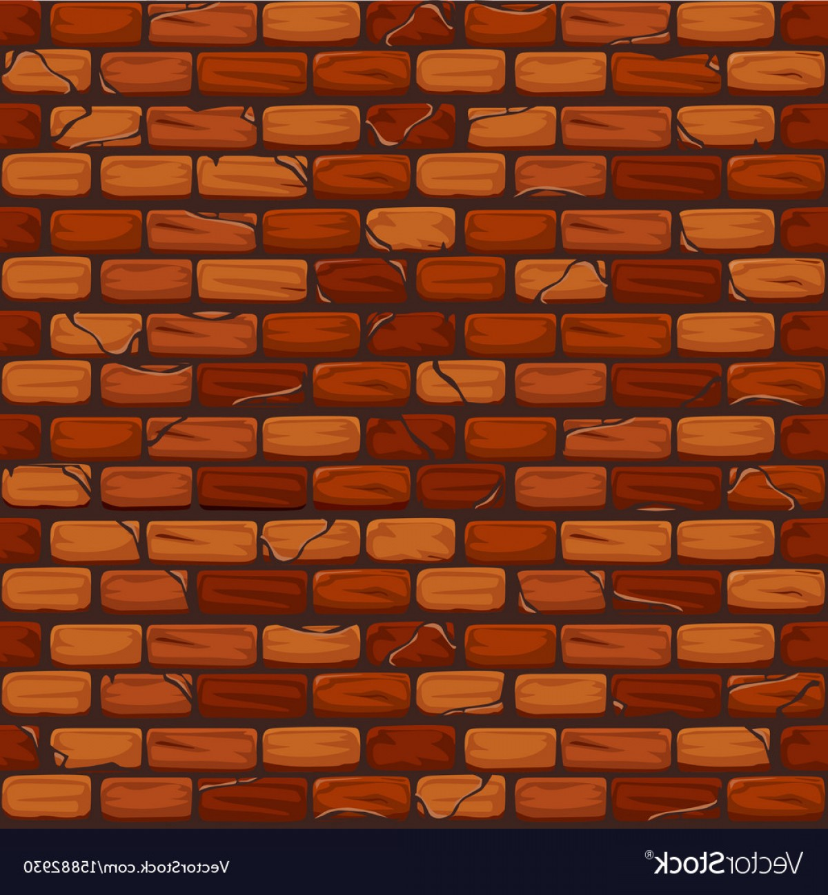 Wall Background Vector: Seamless Old Brick Wall Background Texture Pattern Vector