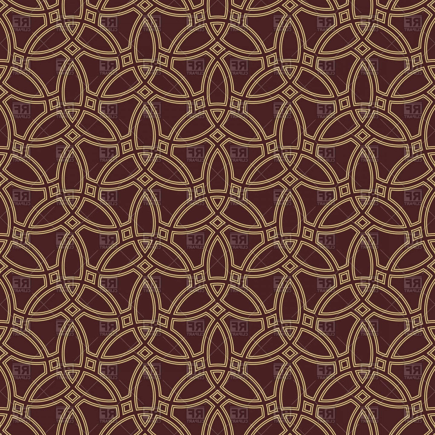 Geometric Vector B2: Seamless Ornament In Arabian Style Geometric Abstract Background Vector Clipart