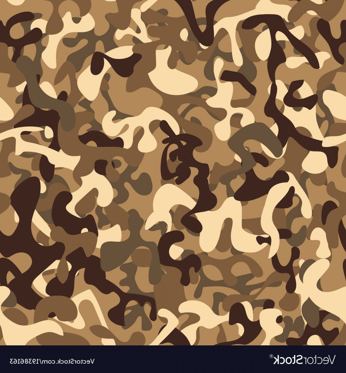 Army Camouflage Pattern Vector: Seamless Pattern Desert Army Camouflage Vector