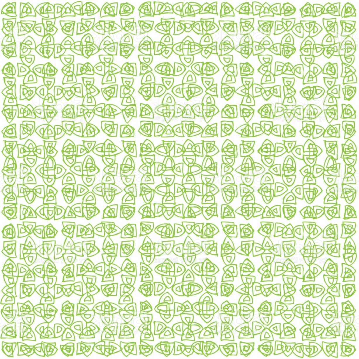 Security Vector Patterns: Seamless Pattern In Green Color Inspired By Banknote And Money Security Watermark Gm