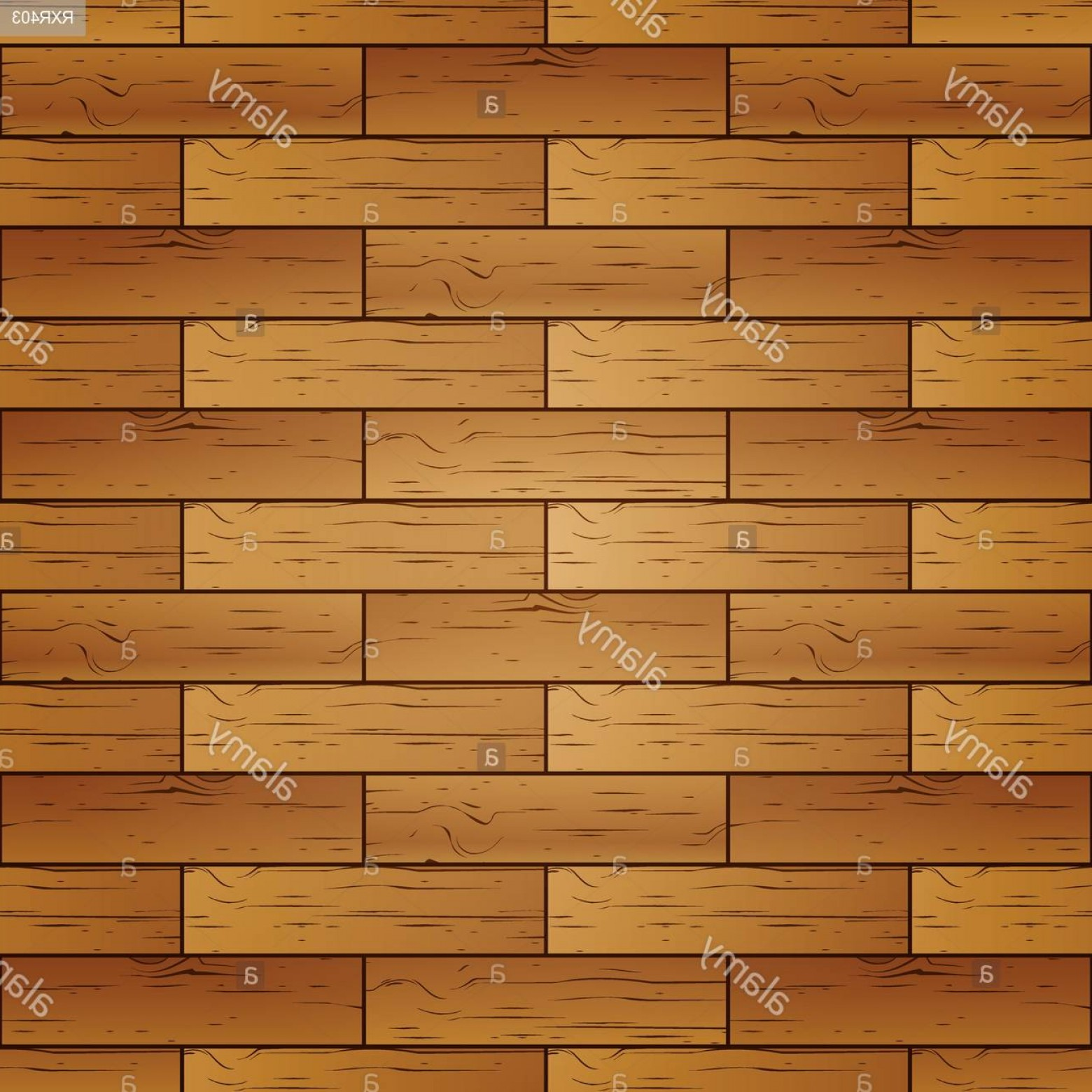 Wood Plank Vector Art: Seamless Pattern Of Realistic Wooden Plank Vector Illustration Image