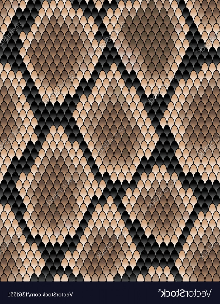 Rattlesnake Skin Vector: Seamless Pattern Of Snake Skin Vector