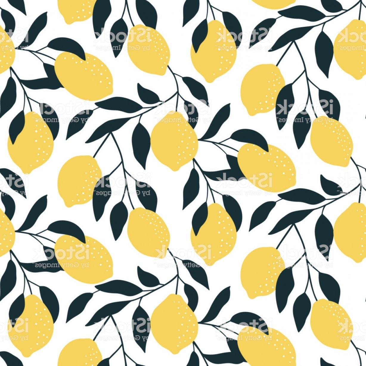 Vector Group Of Hands Overlapped: Seamless Pattern With Citrus Fruits Hand Drawn Overlapping Backdrop Modern Lemon Gm