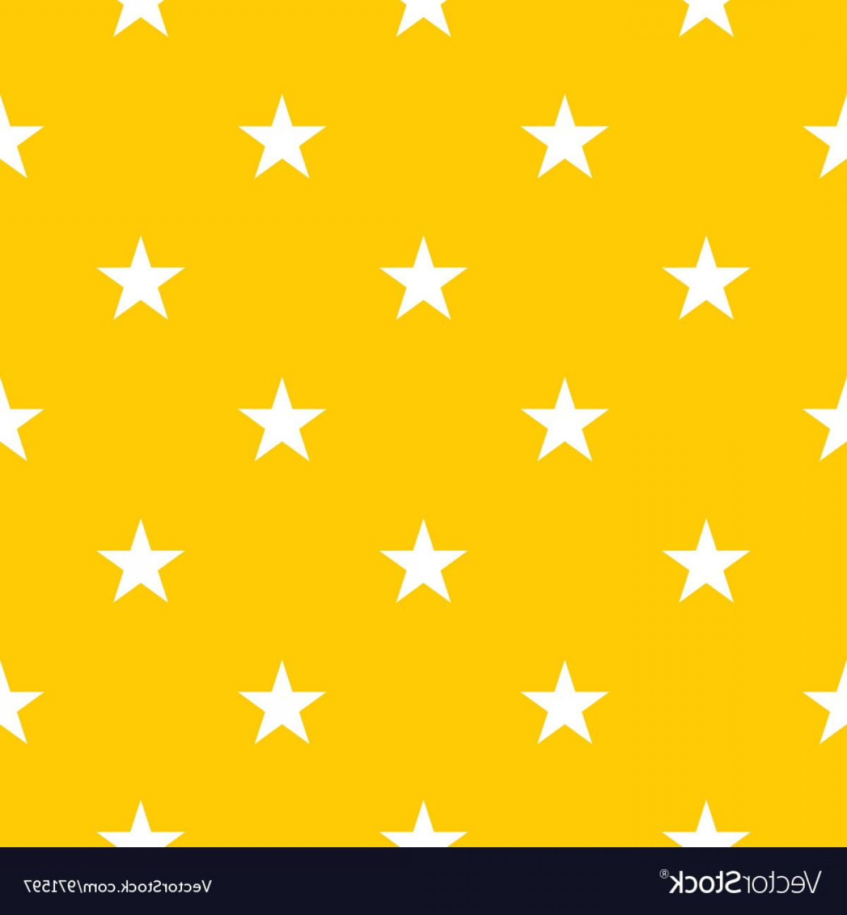 Stars Yellow Christmas Vector: Seamless Pattern With Stars On Yellow Background Vector