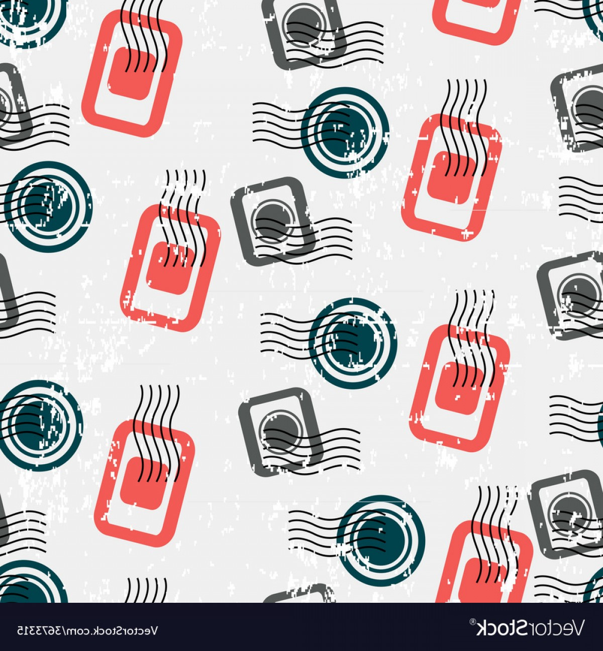 Visa Logo Vector Clip Art: Seamless Pattern With Visa Stamps Background For Vector