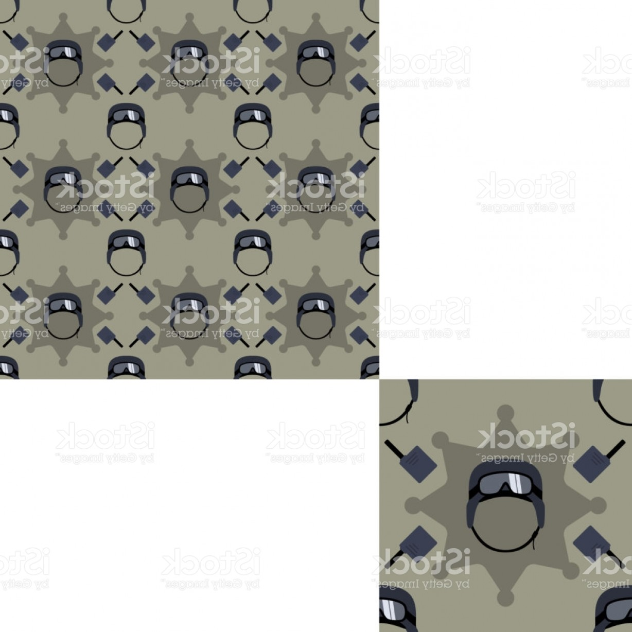 Vector Special Forces Helmet: Seamless Patterns Of Special Forces Helmets And Radio With Pattern Unit Gm