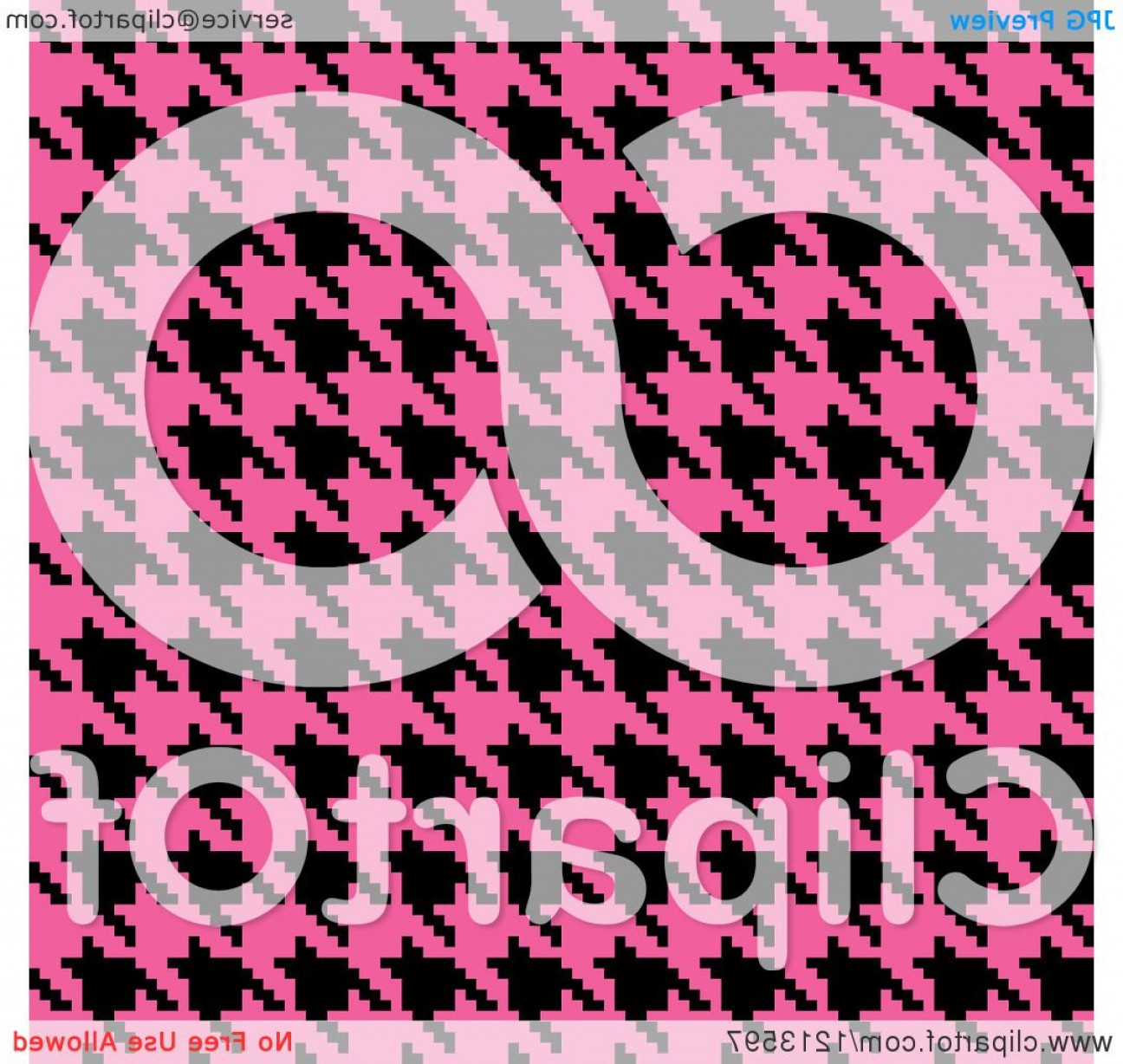 Pink And Black Houndstooth Vector: Seamless Pink And Black Houndstooth Pattern